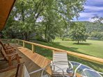 Enjoy an alfresco meal or your morning coffee from the large, wraparound deck.