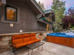 Outdoor Lounging Area & Hot Tub
