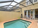 This townhome boasts a private saltwater pool,  1,440 square feet of living space and comfortable accommodations for 8...