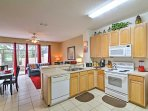 Prepare homemade meals in the fully equipped kitchen.