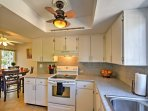 Cook up your favorite recipes in the fully equipped kitchen.