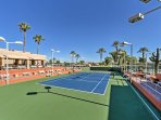 Play a round of tennis at the community courts.