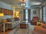 The living area is the perfect spot to relax on the furniture and visit with your companions.