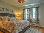 The home offers 2 bedrooms for guests to choose from.
