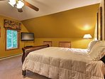 Three of the 4 bedrooms have queen-sized beds.