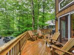 Sit back, relax and enjoy your morning coffee on the deck.