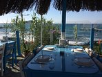Grab a bite to eat at nearby Kucuk Ev cafe on the beach