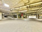 Underground Heated parking garage, free parking in the non-ski season