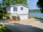 Lakefront House and large driveway