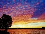 Lakeside Retreat at Lake of Egypt sunset