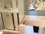 Master bath - garden tub and shower