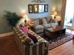2 Couches -- Plenty of Seating in the Living Area with an ocean view!