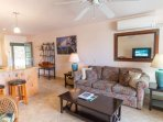Enjoy the cross breezes and Family Time in the Open Floor Plan - Large Flat Screen TV