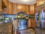 Updated fully equipped kitchen with stainless steel appliances