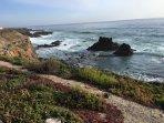 walking trail by the ocean