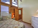 The ' Birdhouse Room' comes complete with a cozy queen bed.