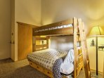 Those staying in the last bedroom will enjoy the twin-over-queen bunk beds.