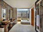 Unique bathroom in terrazzo style
