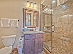 Upper Level Shared Bath with Tile Shower