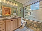 Master Bedroom Private Bath with a Jetted Tub/Shower