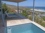 Small plunge pool on verandah