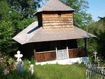 The village church, a historic monument dated 1758, wooden structure and with iconic shingled roof