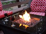 Deck has a fire pit, great for those cooler evenings.