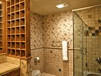 The home offers 5.5 bathrooms for guests to use.