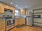 The kitchen has everything you'll need, from a quick breakfast to a formal, home-cooked dinner.