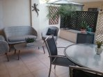 Patio and outside dining area