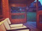 veranda at night