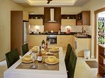 Kitchen with Dining area leads to attractive garden patio