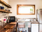 Nice big stainless steel sink + dish washer