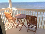 Deck off master bedroom. Great for that morning coffee or adult beverage to watch sunset