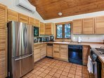 Plenty of room for a few chefs in this fully equipped kitchen.