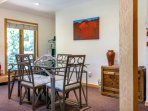Enjoy meals or games at this second dining table for 4.