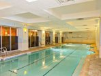 Never get rained out with this indoor swimming pool.