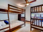 2nd Floor - Bunk Room - All Twin Bunks - Sleeps 4 - Hall Bathroom