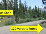 120 yds to free bus to Breck (3x per hour 18 hrs/day)