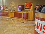 Front lobby check-in. Concierge, car rental, gift shop & groceries here.  Buffet upstairs.