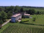 Charming suite with terrace on peaceful organic chateau property close Bordeaux