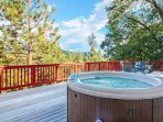 Take a dip in the hot tub!