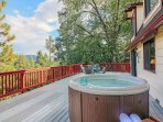 Relax in the spa and enjoy the view!