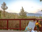 Deck with beautiful views.