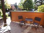 Have breakfast or dinner on your quite patio. The Autumn sun is so nice and refreshing.