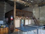 The Games Barn - table tennis, table football and a pool table.