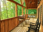 Rear Porch to view the Smoky's