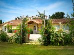 Large finely restored luxurious 17th Century Gascony stone farmhouse.