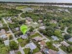 Aerial View to show Shamrock Park and Nature Center.  Just a quick bike ride!  Just beyond is the Gulf of Mexico and...