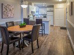 Spacious condo offers everything you might need for your holiday.  Dinning area seats 4.